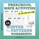 Winter Worksheets on Patterns