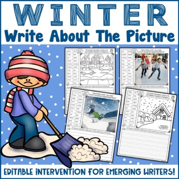 Winter Writing Prompts | Picture Writing Prompts | EDITABLE