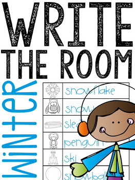 Winter Write The Room - Writing Station Activity