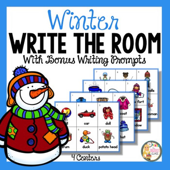 Winter Write The Room Activity with Writing Prompts