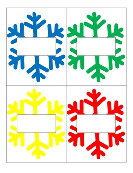 Winter Write-The-Room Literacy or Math Activity