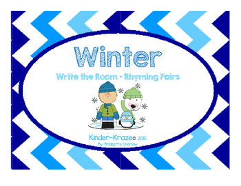 Winter Write The Room- Rhyming Pairs