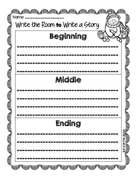 Winter Write The Room to Write A Story Activity - Compound Words