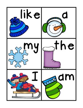 Winter Write The Room Sight Words