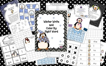 Winter Write and Color By Sight (PP) Lucy Calkins and Dolch Words