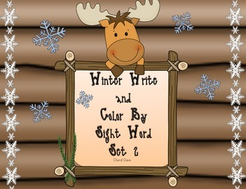 Winter Write and Color By Sight Set 2 (PP) Lucy Calkins and Dolch Words