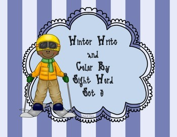 Winter Write and Color By Sight Set 3 (PP)  Lucy Calkins and Dolch Words