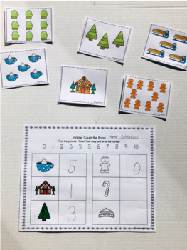 Winter: Write and Count Around the Room