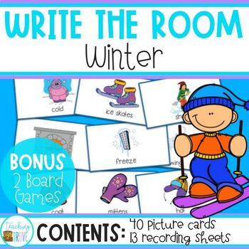 Write the Room - Winter Words - Winter Word Work - Winter Games