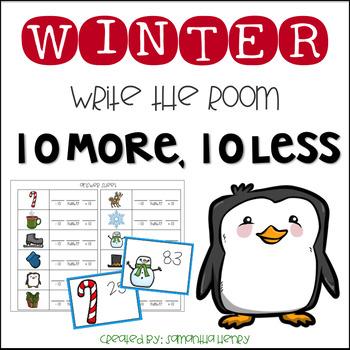 Winter Write the Room 10 More, Ten Less