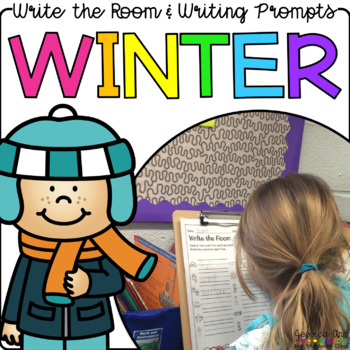 Winter - Write the Room & Writing Prompts {Print on Cardstock or Post Its}