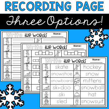 Winter Write the Room | Boom Cards Included