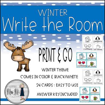 Winter Write the Room: A Language Arts Activity