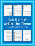 Winter Write the Room Acrostic Journal Pages