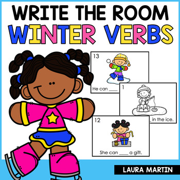 Winter Write the Room - Action Verbs