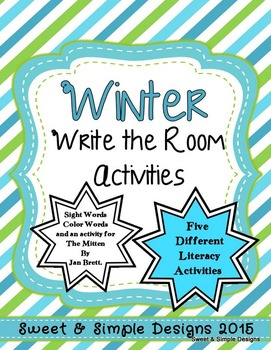 Winter Write the Room Activities