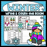 Winter Write the Room January Activity