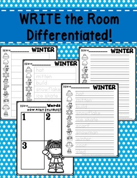 Winter Write the Room January Activity