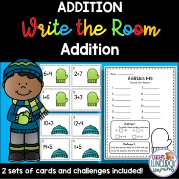 Winter Write the Room - Addition