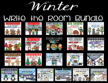Winter Write the Room Bundle