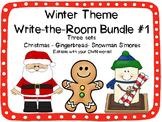 Winter Write-the-Room Bundle Set #1 {3 Different Editable Sets!}