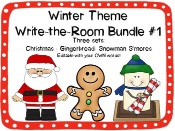 Winter Write-the-Room Bundle Set #1 {3 Different Editable Sets!}