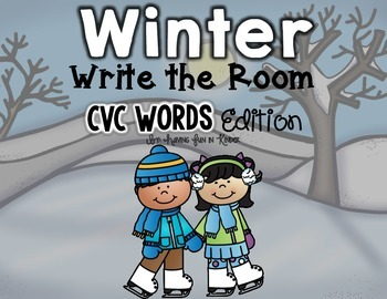 Winter Write the Room - CVC Words Edition