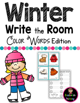 Winter Write the Room - Color Words Edition