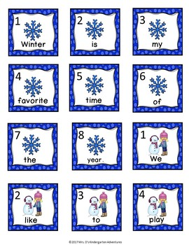 Winter Write the Room - Differentiated