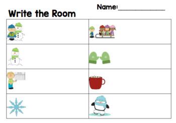 Winter Write the Room - EDITABLE