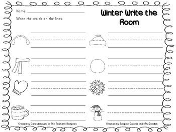 Winter Write the Room FREEBIE