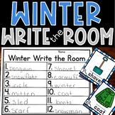 January Write the Room Winter Kindergarten Activity