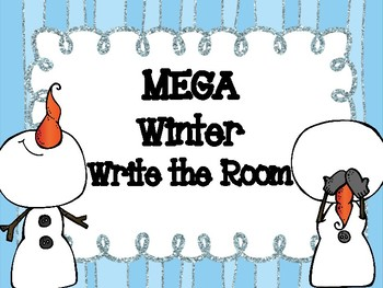 Winter Write the Room MEGA Activities Pack (CCSS)