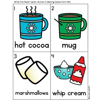Winter Write the Room: Making Hot Cocoa
