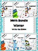 Winter Write the Room - Math Bundle