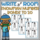 Winter Write the Room Number Bonds to 20