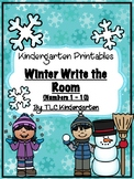 Winter Write the Room {Numbers 1 - 10}