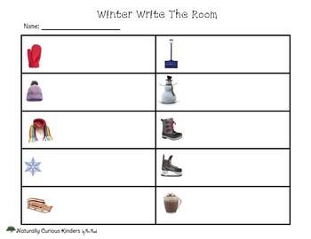 Winter Write the Room - Real pictures - Kindergarten FDK