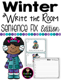 Winter Write the Room - Sentence Fix Edition