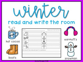 Winter Write the Room Set (interactive QR codes included)