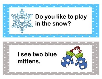 "Winter ""Write the Room"" (Sight Word Sentences)"