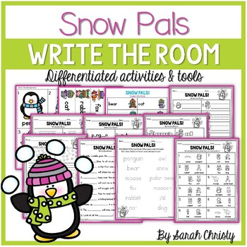 Winter Write the Room: Snow Pals