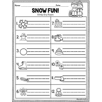 Winter Write the Room: Winter Fun