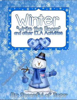 """Winter """"Write the Room"""" and other ELA Activities"""