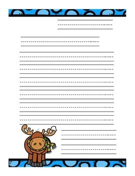 Winter Writers: Friendly Letter Writing Templates