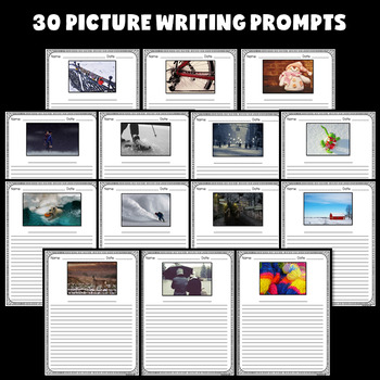 Winter Writing Prompts and Paper