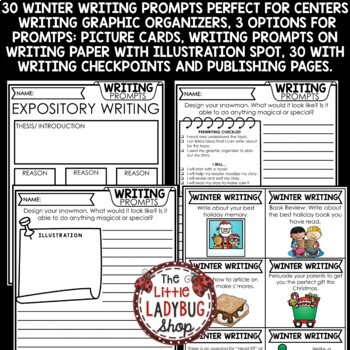 Winter Writing Prompts 2nd Grade, 3rd Grade, 4th Grade