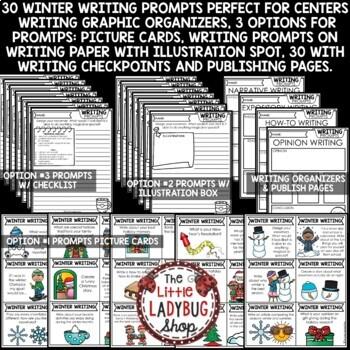 Winter Writing Prompts 2nd Grade, 3rd Grade, 4th Grade January Winter Activities