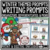 Digital December, January, Winter Writing Prompts Activities 3rd, 4th Grade