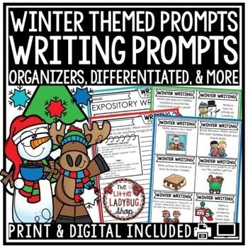 Winter Writing Prompts 2nd Grade, 3rd Grade, 4th Grade